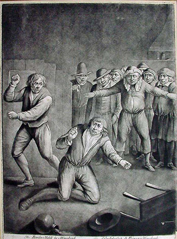 Print: Boxing - Bare Knuckle Fight, by John Bowles, after Hemskerk.